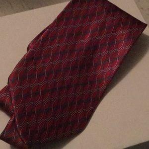 Silk red tie